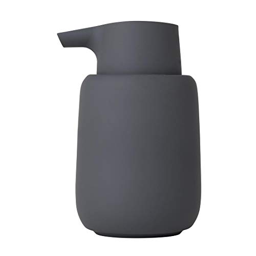 Blomus - SONO - Seifenspender - Magnet/Keramik/Kunststoff/Silikon - H: 14 cm x T: 9.5 cm x Ø 8.5 - Volumen: 0.25 l