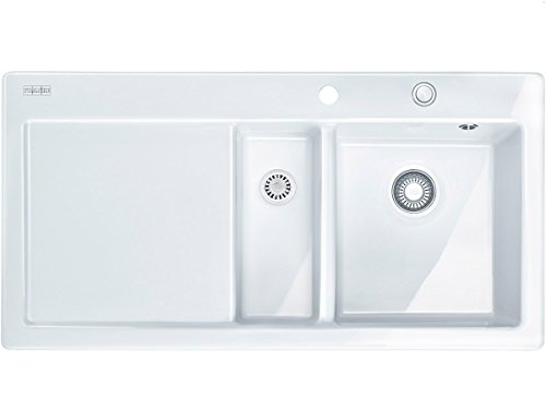 Preisvergleich Produktbild Franke Mythos MTK 651-100 Glacier Weiß Keramik-Spültisch Küchenspüle Einbauspüle