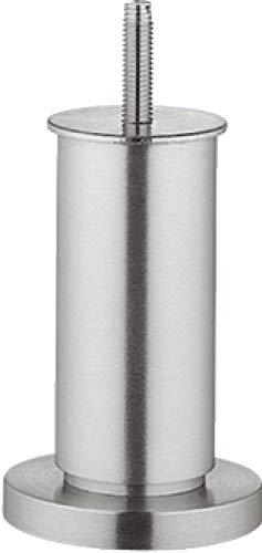 Gedotec Moderner Design Möbelfuss Alu Verstellfüße Modell NENA mit Höheneinstellung | Höhe 100 mm | Sockelfuß mit Gewindestift M8 mm | Aluminium matt | 1 Stück