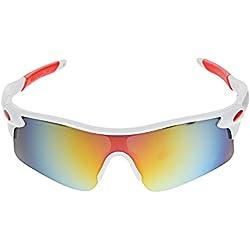 A-szcxtop Dazzle Farbe Reflektierende Fashion Outdoor Sports Fahrrad Bike Angeln Fahren Sonnenbrille Eyewear Brille für Damen und Herren