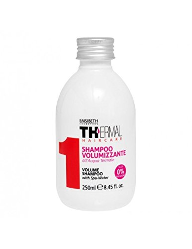 Emsibeth 1TH Shampoo Volumizzante 250 ml a base di acqua termale per capelli fragili
