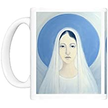 Mug of The Virgin Mary, Our Lady of Harpenden, 1993 (oil on panel) (12787061)