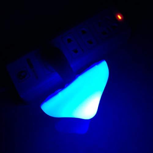 Light Control Mushroom Night Yellow Light Led Night Light Bedside Lamp Bedside Lamp Led Lamp Energy-Saving Mushroom Lamp Colorful Blue 80 * 10Mm -