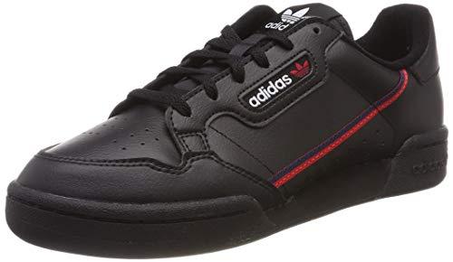 adidas Unisex-Kinder Continental 80 J Sneaker, Schwarz (Core Black/Scarlet/Collegiate Navy 0), 38 EU (Schwarz Schuhe Kinder Adidas)