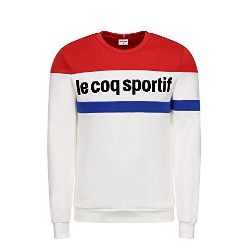 le coq Sportif Herren Tri Crew Sweat N°1 M New Optical White Sweatshirt, XL