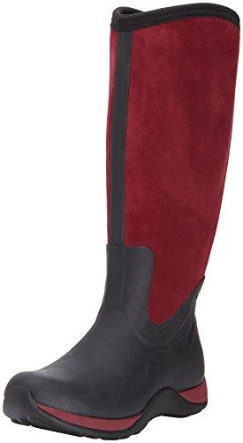 Muck Boots Arctic Adventure Zip Suede, Stivale da Donna Nero (Black/Maroon)