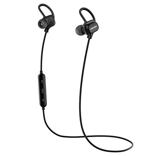 Mpow Auricolari Sport Bluetooth 4.1 Headset Stereo Cuffie Sport Bluetooth Leggero 13G, Auricolari Sport Bluetooth Antisudore IPX4 con Microfono, Auricolari Wireless CVC6.0 Leggero per iPhone 6s/ 6/ 7 (Plus),iPhone 5s/5c/5, iPad, LG G2, Samsung Galaxy S6 Edge+/S6 Edge/S6/ S5/S4/S3, Note 4/ 3/ 2, Sony, Huawei ed altri Smartphone