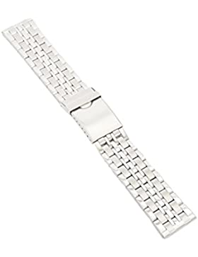 20-22-24mm Metallband Uhrenarmband Edelstahl PoliertSatiniert Armband Uhr Band 3 20mm