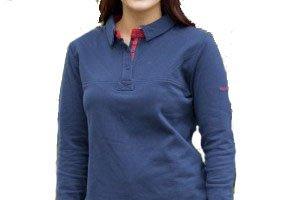 Harry Hall Douglas T-shirt de rugby pour femme Bleu Bleu