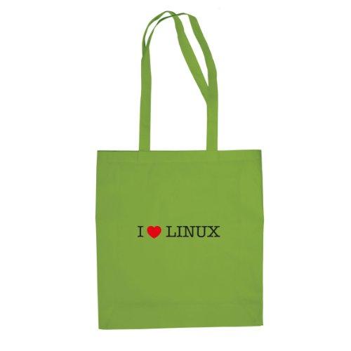 Amo Linux - Borsa Di Stoffa / Borsa Verde Chiaro