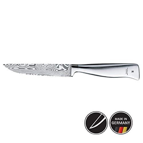 WMF Grand Gourmet Damastmesser, Allzweckmesser 23 cm, Damaststahl 120-lagig, Made in Germany, Performance Cut, Holzkassette, Klinge 11 cm