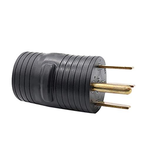 Vosarea Elektrische Verriegelung 50A männlich zu 30A weiblich 125V RV Adapter Stecker (Schwarz) 50a Steckdose