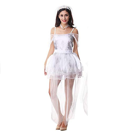 Yunfeng Hexenkostüm Damen Halloween-Party Dress up Geist Braut-Outfit Zombie Outfit Hexenkostüm Cosplay einheitliche (Halloween-kostüme Zombie-dress Up)