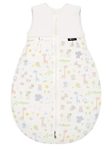 Produktbild Alvi Baby Mäxchen Light - Leichter Sommer-Schlafsack ohne Arm Babys Schlafsack ungefüttert Birnenform,  100% Baumwolle Öko-Tex 100 zertifiziert,  Größe:90,  Design:Animals bunt 911-0