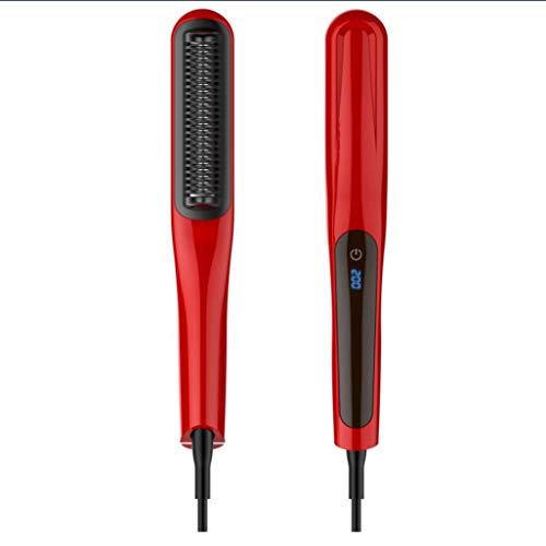 SHUFEI LCD Touch Pantalla Recta Peine De Pelo, Cepillo Alisador De Pelo, PTC Más Rápida Calefacción Enderezar Cepillo Styler En Casa,Red