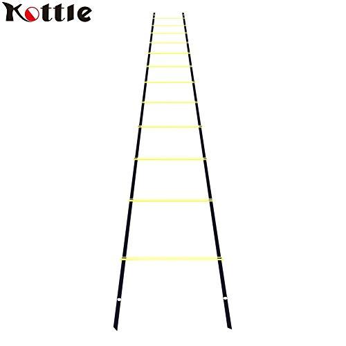 Kottle Escala de la agilidad de 6M peldaño 12 deportes de velocidad,