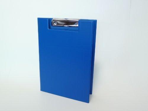 Aufklappbare Klemmbrettmappe DIN A4 blau aus dt. Herstellung