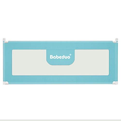Bettgitter, Tragbare Bettgitter-Sicherheitsgitter for Kleinkinder, vertikaler Kinderliftzaun for Queen/King/Full Size-Bett - 92 cm, besonders hoch (Color : Blue, Size : 150cm) -
