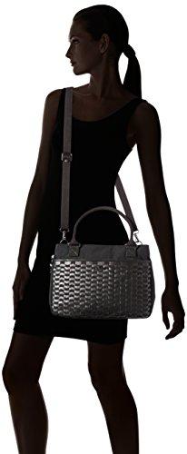 Kipling Caralisa, Borsa con Maniglia Donna Nero (G49 Weaving Black)