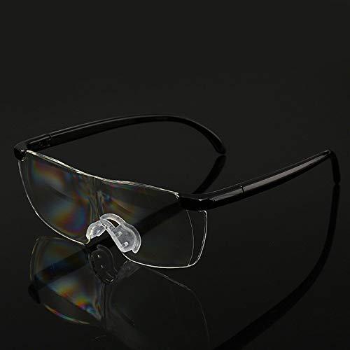 WYJW Rahmenlose Lesebrille 1,6-fache Lupe mit Presbyopiebrille