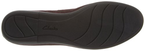 Clarks Greely Harper Flat Red Suede