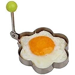 Molde acero inoxidable con forma de flor, utensilio de cocina, para tortillas, huevos, de Honeysuck