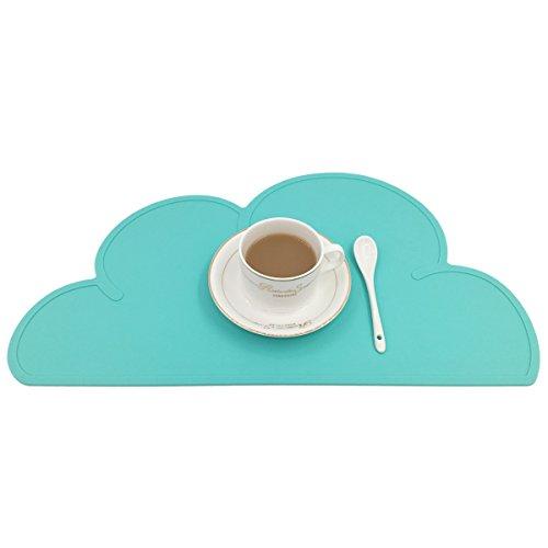 Set de table OneSky-UK pour nourrisson - adulte, fait en silicone alimentaire sans BPA - napperons de plateau pour café, diner - set de table pour les tout-petits, enfants, mangeoire pour un temps de repas agréable et simple