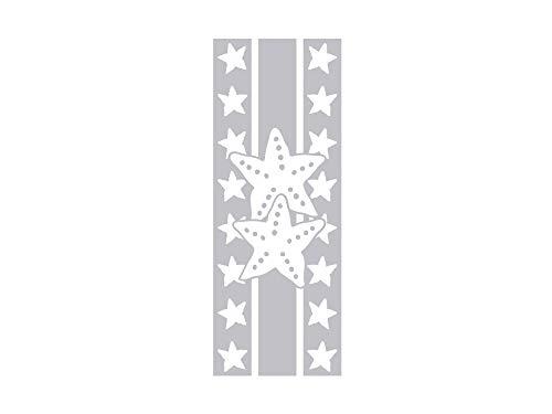 GRAZDesign 980194_57 Fenstertattoo Streifen mit Seesterne | Fensteraufkleber fürs Badezimmer - Glastattoo für Dusche (150x57cm)