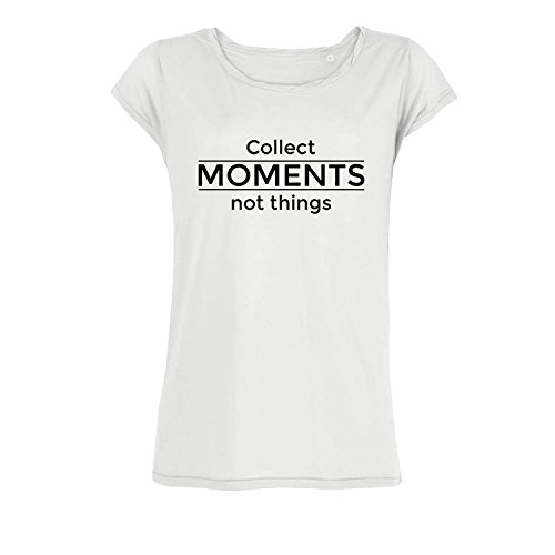 57ac7e8cee49c0 Leichtes Bio Baumwolle Oversize Shirt collect moments not things Damen  tshirt mit Spruch Ladies tanktop Oberteil