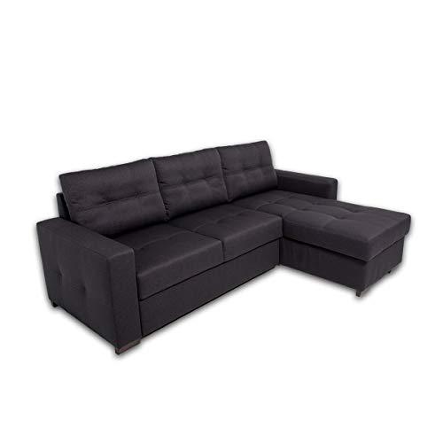 Alfa sofa divano letto budapest a 3 posti con chaise longue reversibile da 154 cm, 230cm x 87cm x 88cm (tessuto: 02/11)
