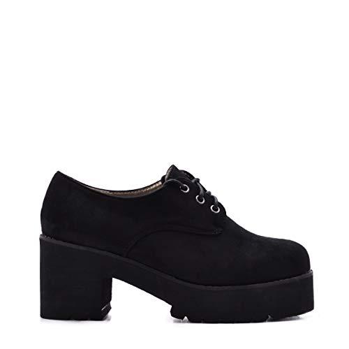 Zapatos Mujer Plataforma Cordones Ante SS18 37