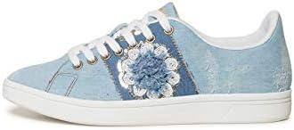 Desigual Shoes (Cosmic_Exotic Denim), Zapatillas para Mujer, Azul (Wash 5007),