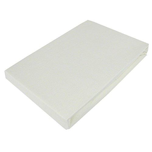 Bettwäscheträume Jersey Spannbettlaken I 90×200 140×200 180×200 I 100% Feinste Baumwolle I Creme mit Prime Vorteil