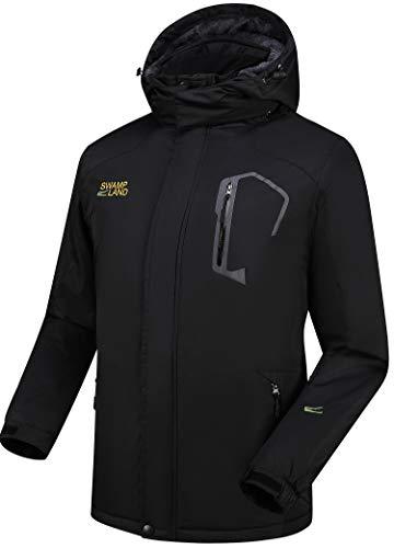 Warme Gefüttert Winterjacke Herren Softshelljacke Wasserdicht Atmungsaktiv Wanderjacke Outdoor Funktionsjacke Sport Regenjacke Schwarz XL