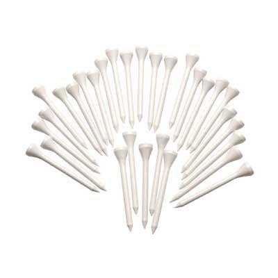 Silverline Holztees weiß 70mm, 100 Stück