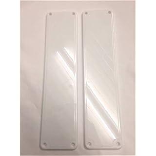 Remi Tools (R) 2 White Door Finger Push Plates.