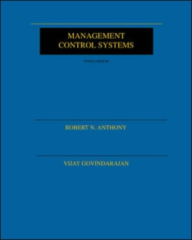 Management Control Systems (McGraw-Hill International Editions: Accounting/auditing Series)