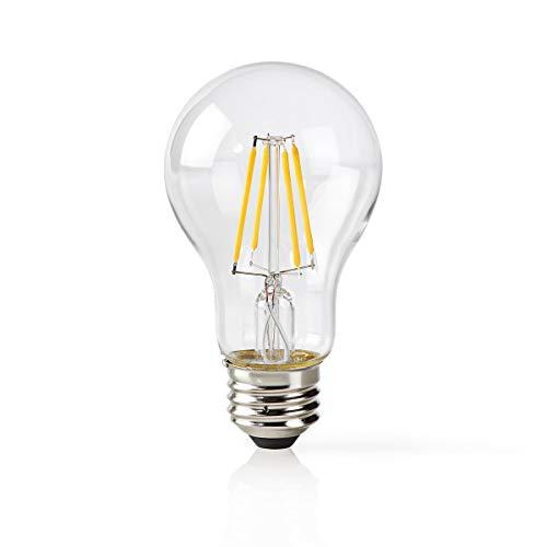 Nedis WIFILF10WTA60 Wi-Fi-Smart-LED-Lampe | Filament | E27 | Weiß | A60