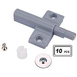 Amortisseur de Porte, 10pcs Amortisseur de Porte Dispositifs de Rebond Magnétique sans Poignée pour Porte du Cabinet(S)