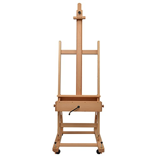 Bargain Artina Pisa Large Easel for Art Professional XXL Studio H-Frame Easel Oiled Beech Wood with 2 x Drawers and 4 x Castor Special