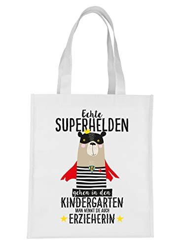 sche Echte Superhelden gehen in den Kindergarten man nennt sie auch Erzieherin Weiß ()