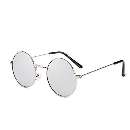 Junecat Männer Frauen Runde Metallrahmen Sonnenbrillen Kreis-Harz-Objektiv UV-Schutz Eyewears Unisex Frauen männlich Sun Glasses