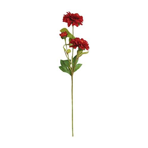 VWTTV künstliche Pflanze gefälschte Blätter Dahlie künstliche Blume Hersteller Dekoration Hochzeit Holding Blumen Straße führen Blume Family Office Garten Blume Hochzeitsdekoration (Herzstück Ideen Rot)