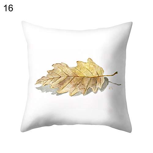 Gracorgzjs Weicher Überwurf Kissenbezug mit Blättermuster Kissenbezug Zuhause Sofa Dekoration 16#