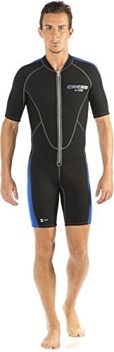 Cressi Lido Man, Muta Shorty Uomo, Nero/Blu, XL/5