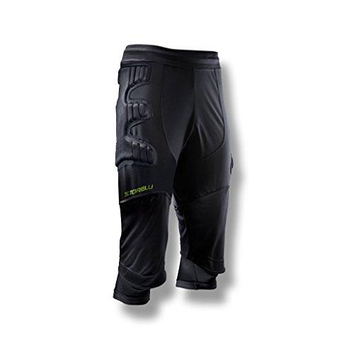 47285709c01 Storelli Men's Body Shield Ultimate Protection 3/4 Goalkeeper Pants, Black,  Large