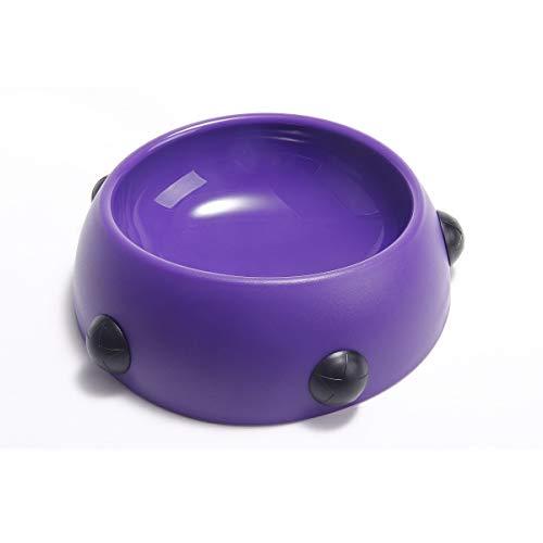 Niet Haustier Hund Katze Schüssel Wasser Futternapf mit Anti-Rutsch-Matte spezielle Anti-Arch Futter Feeder Für Perros und Katzen 0133 (Color : Purple+Black, Size : S) (Hund Wasser Schüssel-matte)