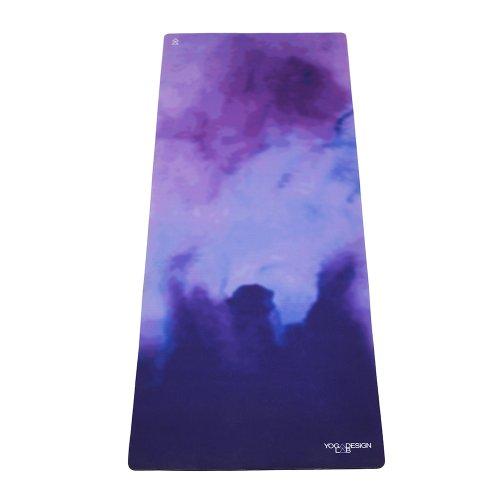 Yoga Design Lab Combo Yogamatte 3,5mm | rutschfest, Matte/Handtuch, Guter Halt bei viel Schweiß, Naturkautschuk | mit Tragegurt (Dreamscape) -