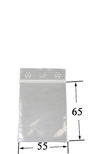 Weedness 100 x Baggys Zip Beutel 5,5 Mal 6,5 cm - Schnellverschluss Tütchen Druckverschluss Plastikbeutel Transparent Lebensmittelfreundlich