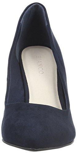 Bianco High Collar Pump Jja16, Escarpins femme Bleu - Blau (30/Navy Blue)